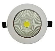 7W 1xCOB 600LM Branco 6000-6500K LED luzes de teto (AC 100-240V)
