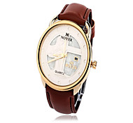 Men's Water-Resistant Dial leather Band Quartz Wrist Watch