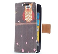 Owl Style Leather Case with Card Slot and Stand for Samsung Galaxy S Advance i9070
