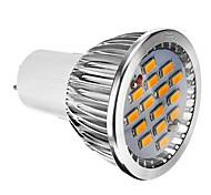 Faretti LED 15 SMD 5730 GU5.3(MR16) 6W Intensità regolabile 380 LM Bianco caldo AC 220-240 V