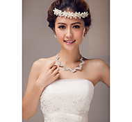 Women's Imitation Pearl Headpiece-Wedding / Special Occasion Headbands / Flowers / Head Chain As the Picture Flower