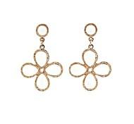 Animé Clover Leaf Décorer Quatre Boucles métalliques 1 paire de femmes