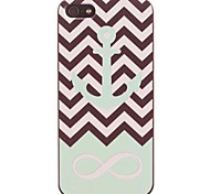 Ripple and Green Anchor Design PC Hard Case for iPhone 5/5S