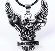 Fashion Eagle  Black Alloy Pendant Necklace(Silver) (1 Pc)