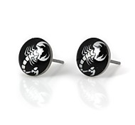 Women's White Scorpion Pattern Metallic Earring 12pairs