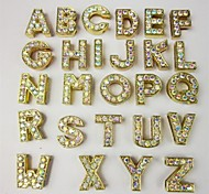 Dog tags DIY Letter Golden Rhinestone Decoration of Collars for Pets Dogs