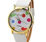 Runde Sache Unisex PU-Band Quarz Analog Armbanduhr (verschiedene Farben)