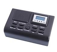 """0.9 """"ЖК-Мини цифровой автоматической телефонной рекордер с гнездом для платы SD и AUX OUT - черный"""