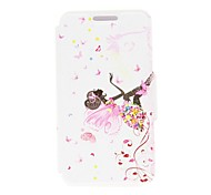 For LG Case with Stand / Flip Case Full Body Case Sexy Lady Hard PU Leather LG