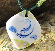 Blue And White Porcelain Hand Woven Necklace