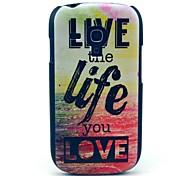 Leben und Leben der Sea Muster Hülle für Samsung Galaxy S3 I8190 Mini