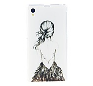 Kinston Artistic Figure Diamond Paste Pattern TPU Soft Case for Sony Xperia Z1 L39h