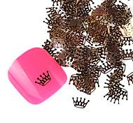 YeManNvYou®20PCS Super Soft Cute Golden Alloy Bishop's Crown Nail Art Decorations No.56