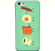 Coffee Cup and Bread People Pattern Hard Case for iPhone 5C