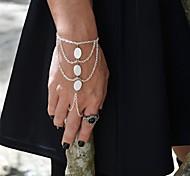 Shixin® Vintage Three Ellipse Shell Alloy Charm Bracelet(Golden,Silver,Bronze)(1 Pc)
