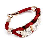 Fashion Golden Square Wrap Bracelet(Random Color)