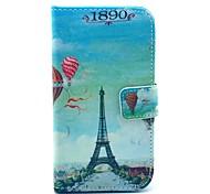 Balão Torre Eiffel Padrão PU caso capa de couro com suporte e slot para cartão de Motorola MOTO X