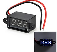 "Jtron 0.28"" 3-Digital Two-Line Voltmeter - Black (3.50~30.0V)"