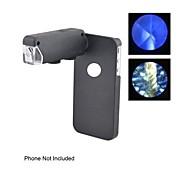 Illuminated Zoom Pocket Microscope (60X-100X)  with Hard Back Case for iPhone 6