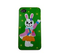 Cute Rabbit Pattern PC Back Case for iPhone 4/4S