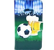 Birra e Pattern Football Cuoio e custodia in plastica dura con il basamento per Motorola MOTO G