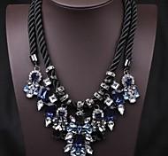 Femme Colliers Déclaration Cristal Gemme Bijoux de déclaration Bijoux de Luxe Européen Bleu royal Bijoux Pour