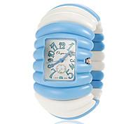 Women's Elastic Plastic Band Quartz Bracelet Watch (Assorted Colors)