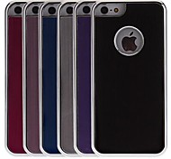 Brushed Aluminum Hard Case with Back Chrome for iPhone 5C (Optional Colors)