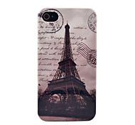 Berühmte Eiffelturm mit Buchstaben Hard Case für iPhone 4/4s
