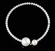 Woman's Big And Small Pearl Pattern Necklace(1pc)