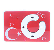 C Button Moon and Stars Pattern Clip MP3 Player with TF Card Reader