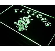 dragón arte del tatuaje tienda de China signo luz de neón