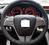 XuJi ™ Black Genuine Leather Steering Wheel Cover for Mazda 6