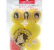 6 peças beleza esponja cabelo encaracolado cor aleatória dispositivo cabelo