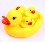 Cute1 Mère canard avec 3 caneton jaune de sondage natation Animaux Jouets pour les enfants Les enfants comme cadeaux