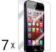 [7-Pack] Front and Back Retina Screen Protector for iPhone 5/5S