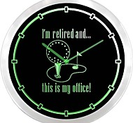nc0962 I'm Retired Golf Glass Is My Office Gift Neon Sign LED Wall Clock