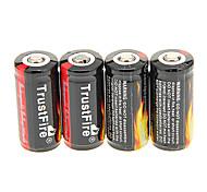 TrustFire 16340 880mAh batteria con protezione da sovraccarico (4 pezzi)