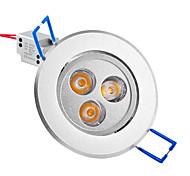 3W Lampes Encastrées / Plafonniers Encastrée Moderne 3 LED Haute Puissance 250 lm Blanc Chaud AC 85-265 V