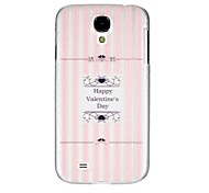 Buon San Valentino in plastica trasparente per il Samsung Galaxy S4 i9500