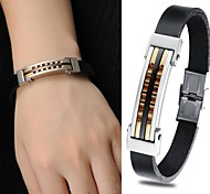 Cool Titanium Creative Fashion  Personality Exquisite Gift Leather Man Bracelet