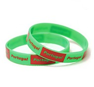 Portugal Flag Pattern 2014 World Cup Silicone Wrist Band