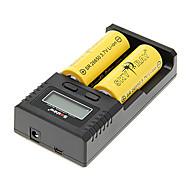 SKYRAY SR 26650 6000mAh batteria (2 pezzi) + Soshine H2 Caricabatteria per 26650/18650/16340 (per 2 batterie) & Caricabatteria da auto