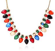 Fashion Color Drop Pendant Necklace