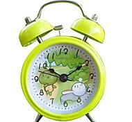 "Timess™ 3""H Hare & Tortoise Bell Night-light Mute Alarm Clock"