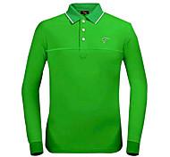 Poliéster TTYGJ Hombre + Spandex Camiseta de manga larga para Green Golf