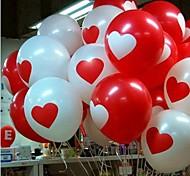 100pcs / lot12 Inch casamento coração vermelho do balão do aniversário Balões do partido Balões 3,2 g de látex para amantes