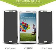 Russian Spanish Engish Version Anti Peeping Tempered Glass Screen Protector for  Samsung Galaxy Note3/N9000