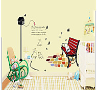 Chair Pattern Wall Sticker(1PCS)