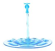 Support Style Robinet Ouvert pour Téléphones Portables - Bleu Translucide